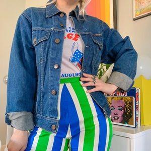 Vintage 70s Wrangler distresses denim jacket S/M